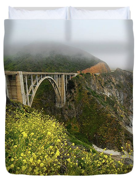 Bixby Bridge Duvet Cover by Harry Spitz