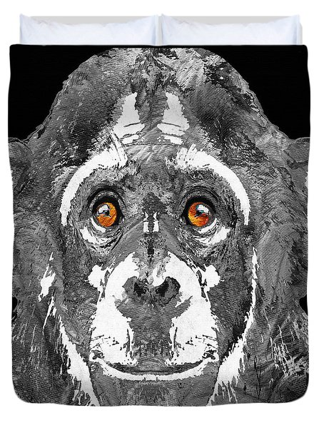 Black And White Art - Monkey Business 2 - By Sharon Cummings Duvet Cover by Sharon Cummings