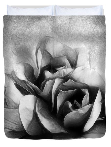 Black And White Is Beautiful Duvet Cover by Georgiana Romanovna