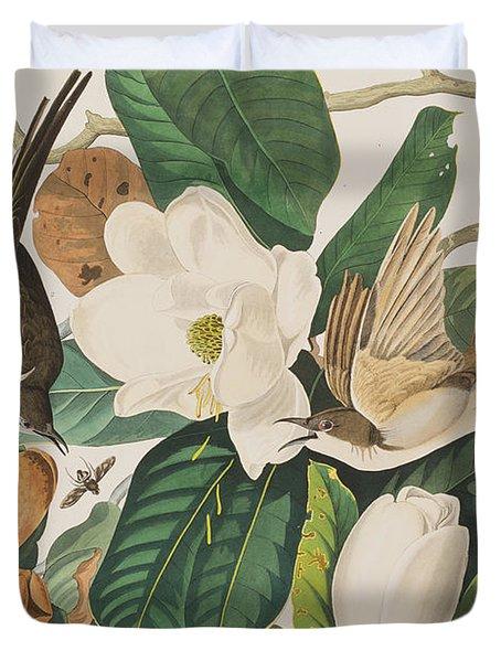 Black Billed Cuckoo Duvet Cover by John James Audubon