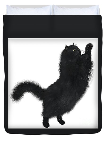 Black Cat Duvet Cover by Corey Ford