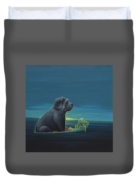 Black Dog Duvet Cover by Jasper Oostland