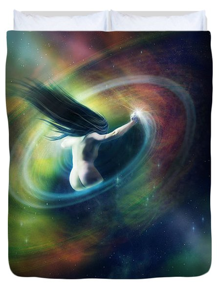 Black Hole Duvet Cover by Mary Hood