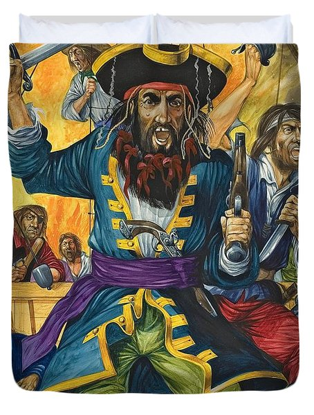 Blackbeard Duvet Cover by Richard Hook