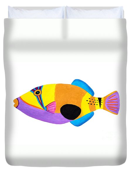 Blackpatch Triggerfish  Duvet Cover by Opas Chotiphantawanon