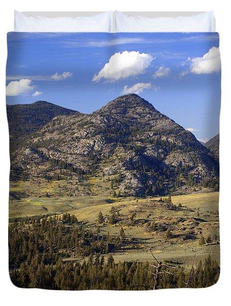 Blacktail Road Landscape 2 Duvet Cover by Marty Koch