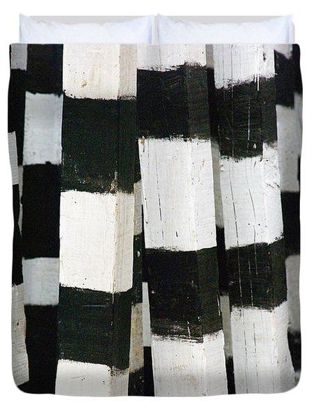 Blanco Y Negro Duvet Cover by Skip Hunt
