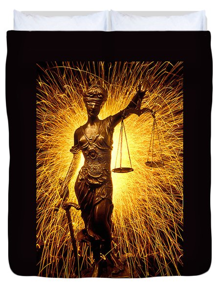 Blind Justice  Duvet Cover by Garry Gay