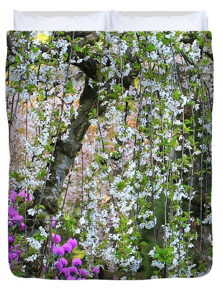 Blossoms Galore Duvet Cover by Carol Groenen