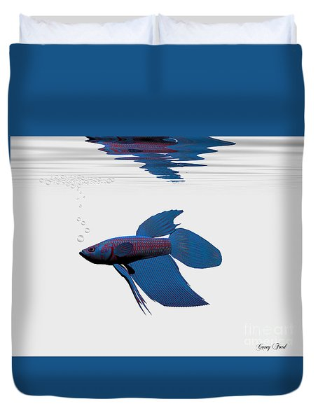 Blue Betta Duvet Cover by Corey Ford