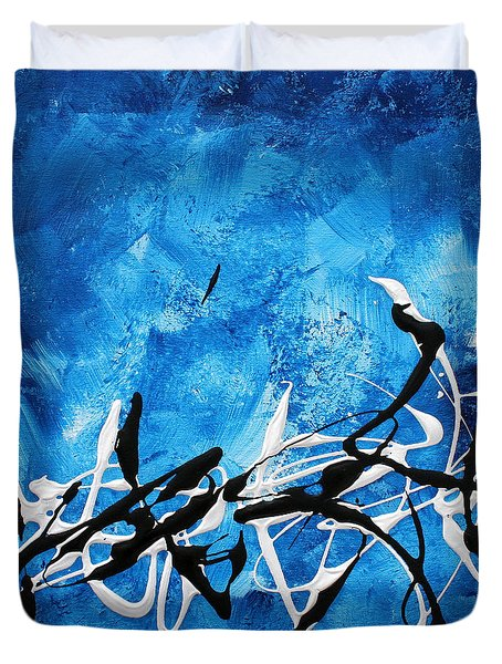 Blue Divinity II By Madart Duvet Cover by Megan Duncanson
