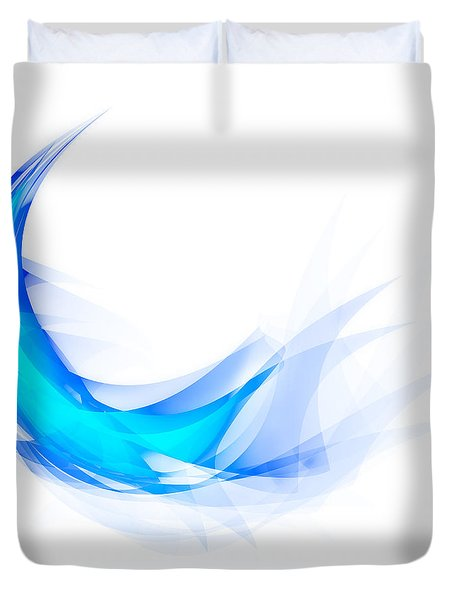 Blue Feather Duvet Cover by Setsiri Silapasuwanchai