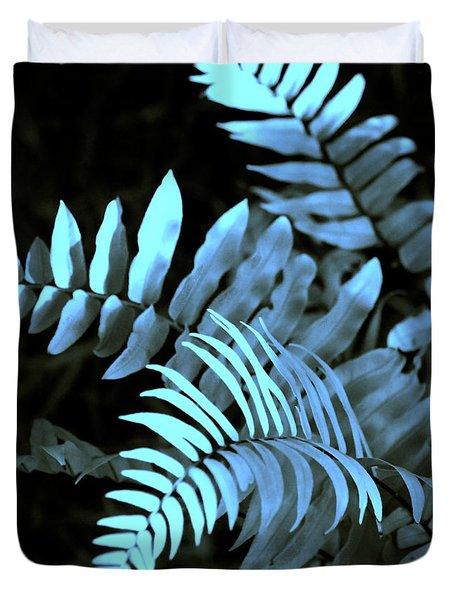 Blue Fern Duvet Cover by Susanne Van Hulst