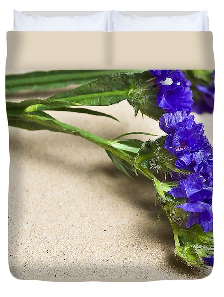 Blue Flower Duvet Cover by Svetlana Sewell