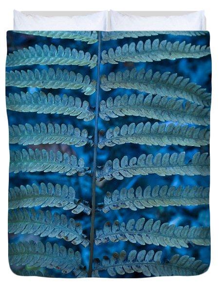Blue Frond Duvet Cover by Douglas Barnett