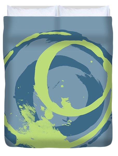 Blue Green 2 Duvet Cover by Julie Niemela