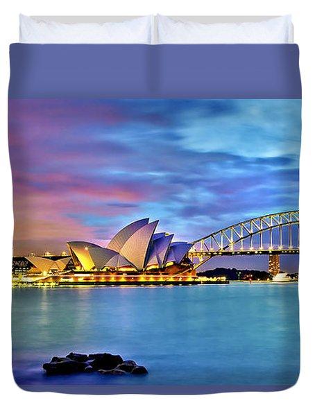 Blue Harbour Duvet Cover by Az Jackson