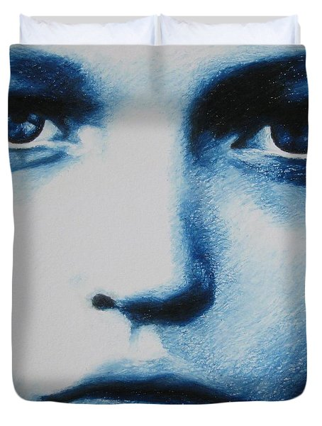Blue Duvet Cover by Lynet McDonald