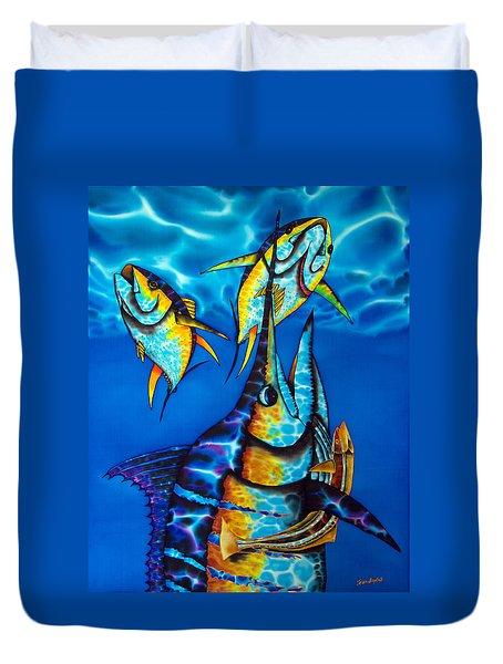 Blue Marlin Duvet Cover by Daniel Jean-Baptiste
