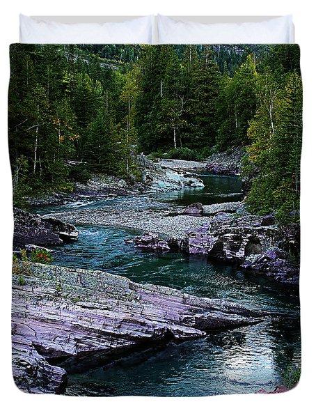 Blue River Duvet Cover by Joseph Noonan