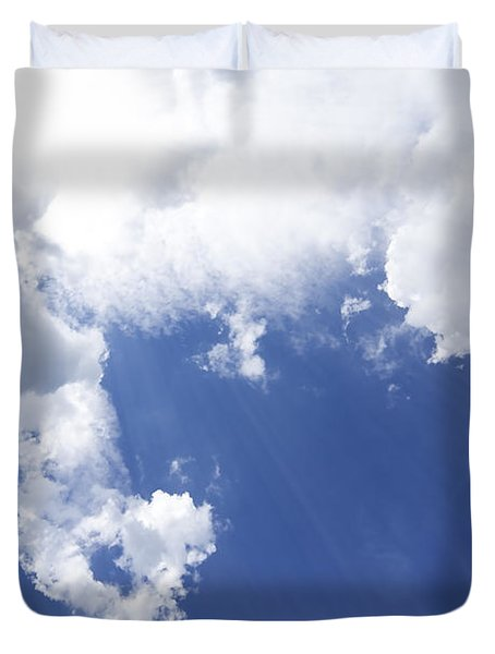 blue sky and cloud Duvet Cover by Setsiri Silapasuwanchai
