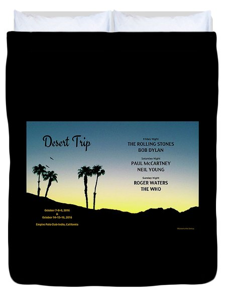 Blue Sky Sunset From A Desert Trip Duvet Cover by Desiderata Gallery