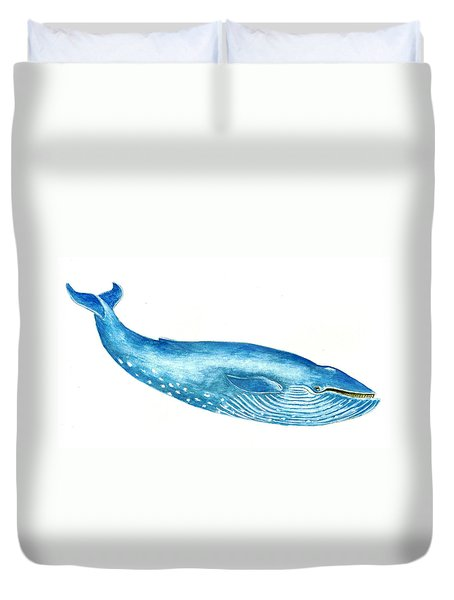 Blue Whale Duvet Cover by Michael Vigliotti