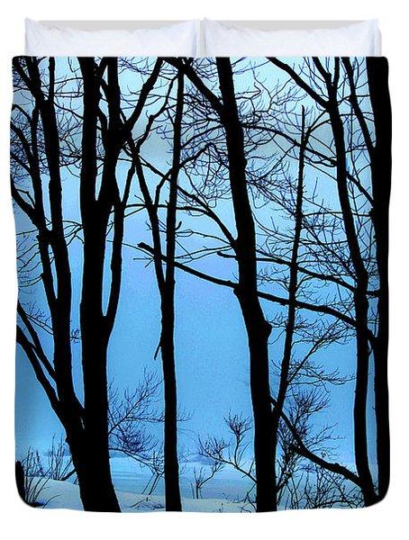 Blue Woods Duvet Cover by Karol Livote