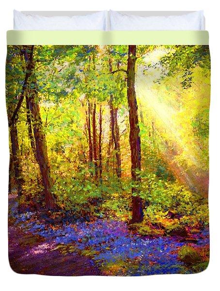 Bluebell Blessing Duvet Cover by Jane Small