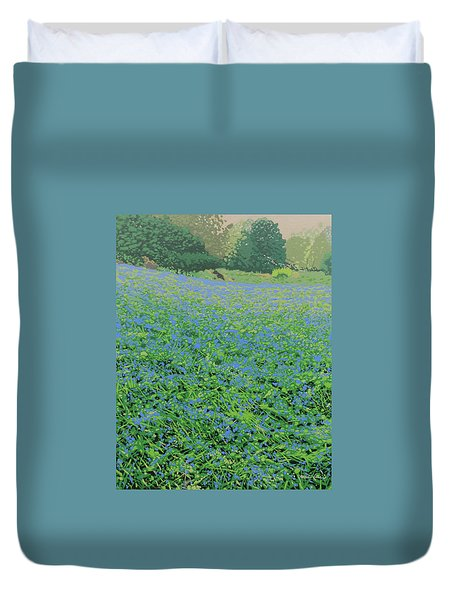Bluebell Hill Duvet Cover by Malcolm Warrilow