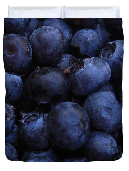 Blueberries Close-Up - Vertical Duvet Cover by Carol Groenen
