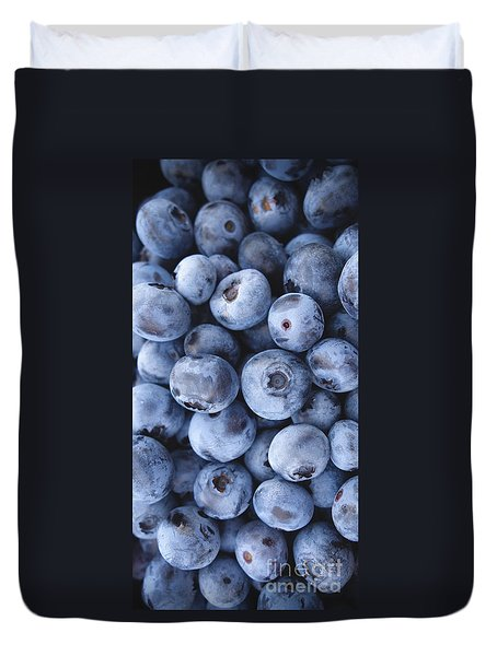 Blueberries Foodie Phone Case Duvet Cover by Edward Fielding