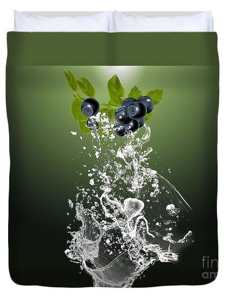 Blueberry Splash Duvet Cover by Marvin Blaine