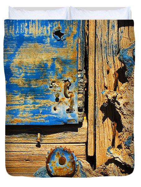 Blues Dues Duvet Cover by Skip Hunt