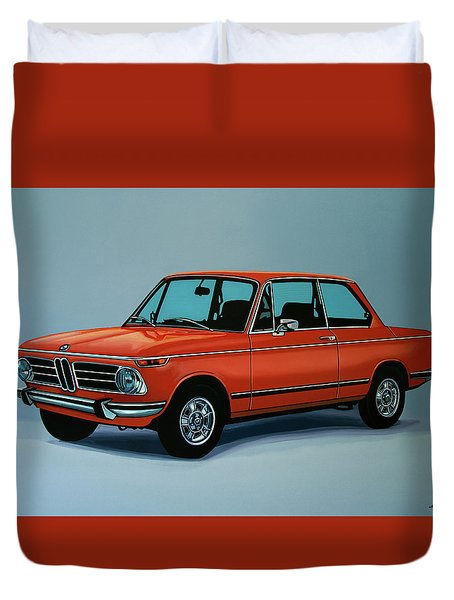 Bmw 2002 1968 Painting Duvet Cover by Paul Meijering