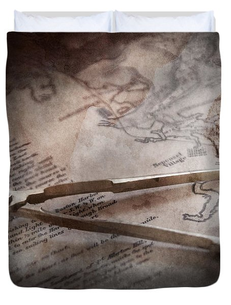 Boat - Sailor - We are ready to sail  Duvet Cover by Mike Savad