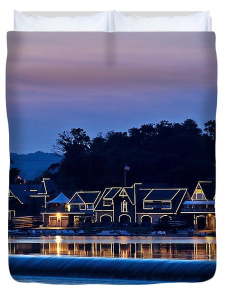 Boat House Row Duvet Cover by John Greim