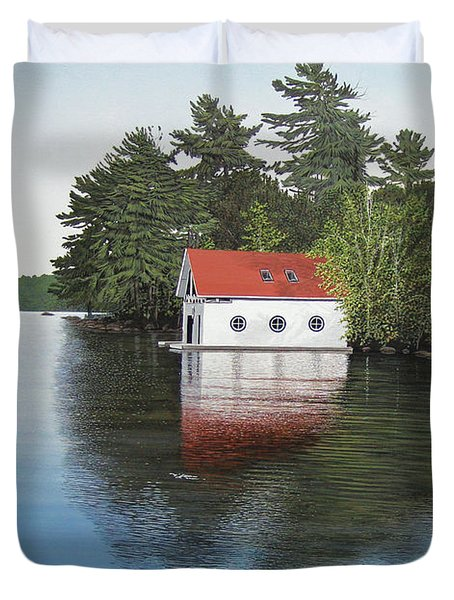 Boathouse Duvet Cover by Kenneth M  Kirsch