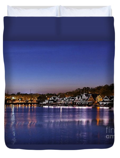Boathouse Row Philly Duvet Cover by John Greim