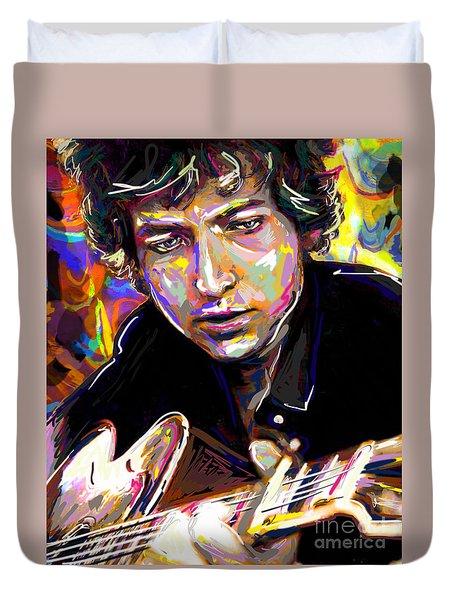 Bob Dylan Art Duvet Cover by Ryan Rock Artist