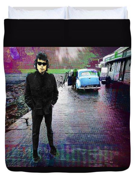 Bob Dylan No Direction Home 1 Duvet Cover by Tony Rubino