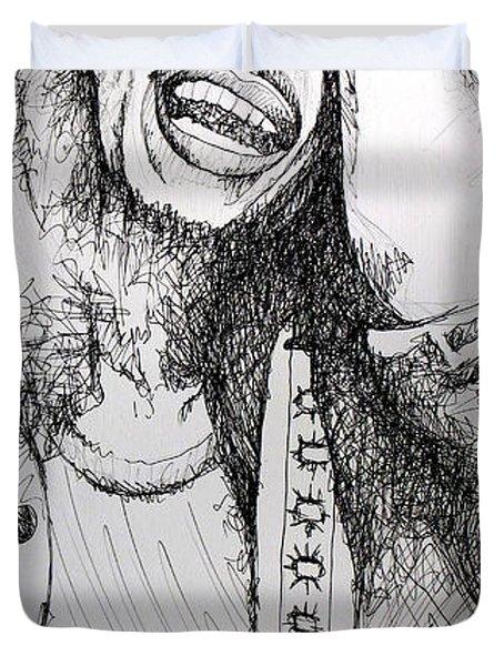 Bob Marley In Ink Duvet Cover by Joshua Morton