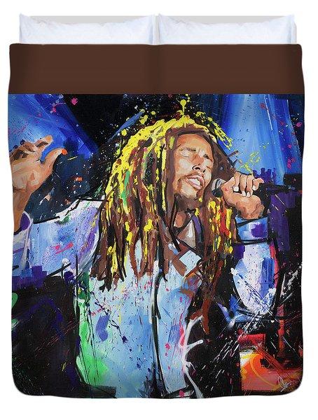 Bob Marley Duvet Cover by Richard Day