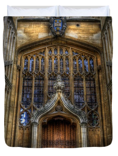 Bodleian Library Door - Oxford Duvet Cover by Yhun Suarez