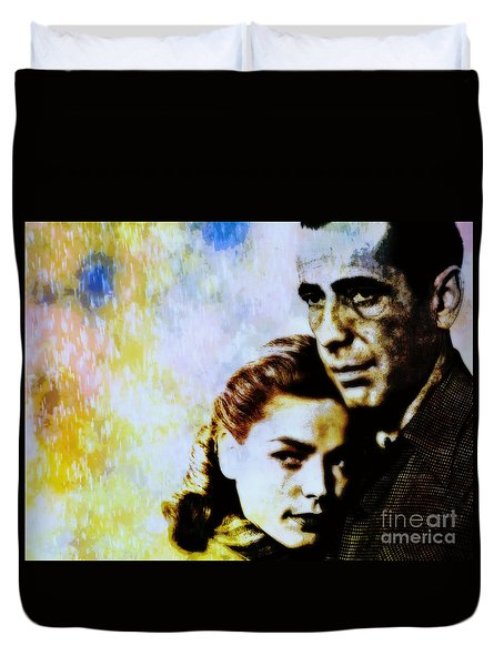 Bogie and Bacall Duvet Cover by WBK