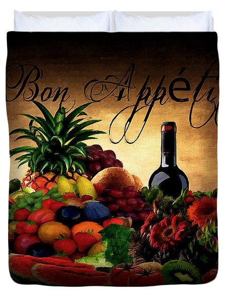 Bon Appetit Duvet Cover by Lourry Legarde