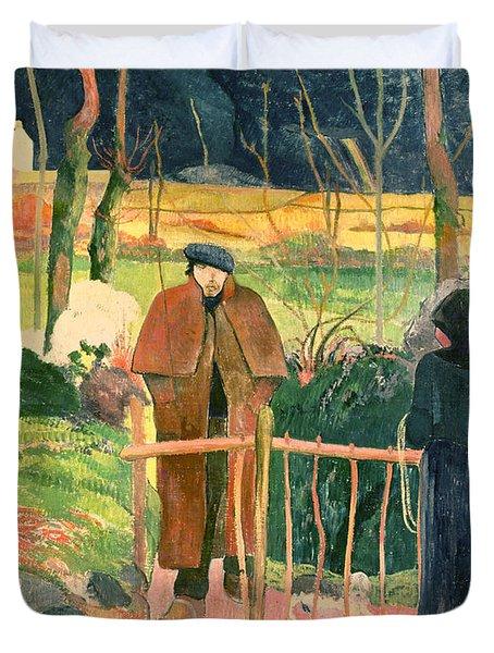 Bonjour Monsieur Gauguin Duvet Cover by Paul Gauguin