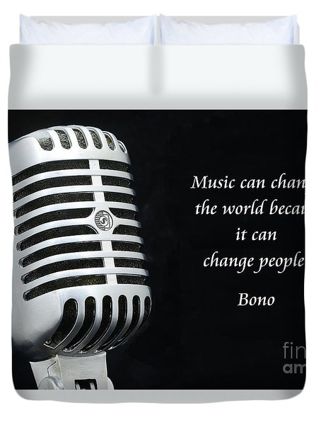 Bono On Music Duvet Cover by Paul Ward