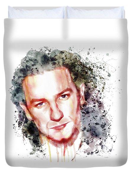 Bono Vox Duvet Cover by Marian Voicu