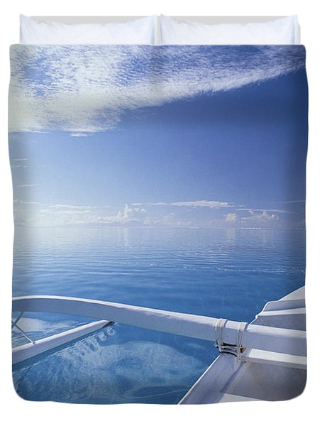 Bora Bora, Outrigger Duvet Cover by Joe Carini - Printscapes